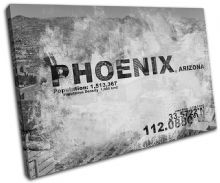 Phoenix AZ USA City Typography - 13-2124(00B)-SG32-LO
